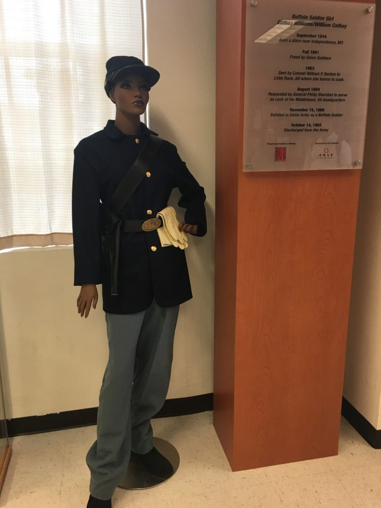 Female soldier part of African-American history
